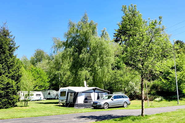 Camping pitch for caravan